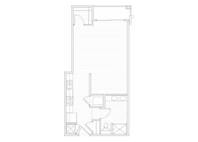 Floor Plan  Studio one bathroom S4 floorplan at 1160 Hammond Apartments in Sandy Springs, GA, opens a dialog