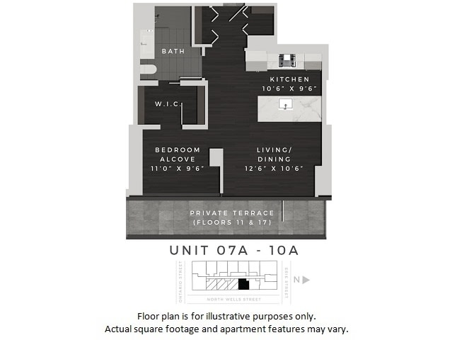 Floor Plan  Unit 07A-10A Floor Plan at 640 North Wells, Chicago, IL, opens a dialog