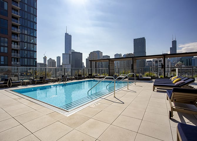 Sparkling Swimming Pool at 640 North Wells, Chicago, IL