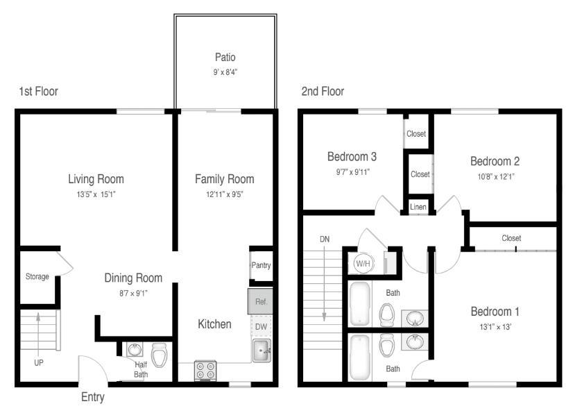 Floor Plan  3B TH-Classic, opens a dialog