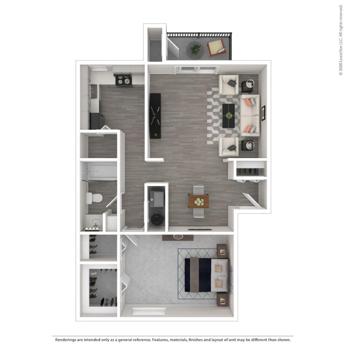Floor Plan  1A -Renovated, opens a dialog