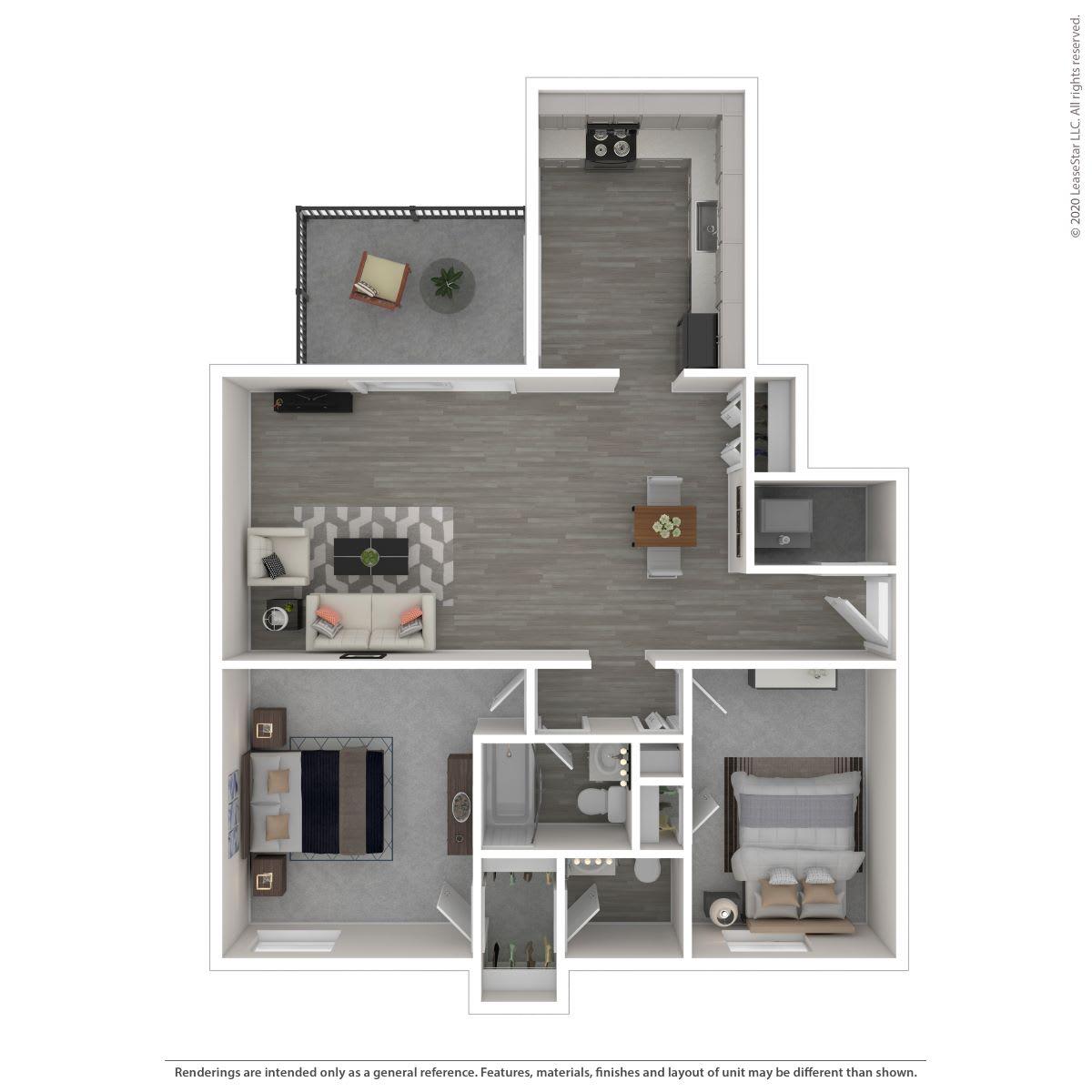 Floor Plan  2C-Renovated, opens a dialog