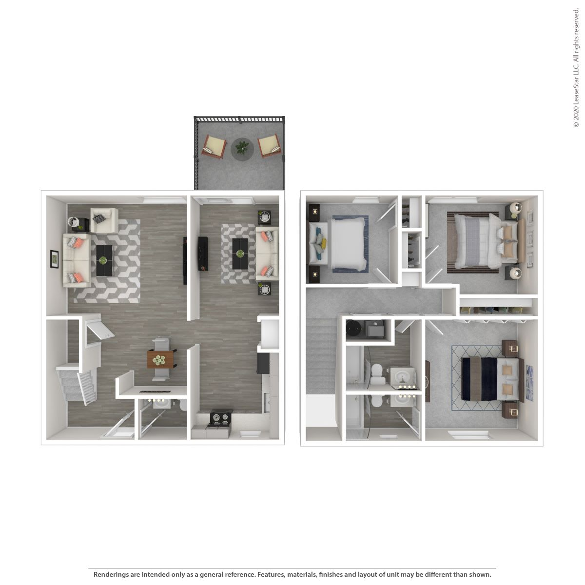 Floor Plan  3B TH-Renovated, opens a dialog