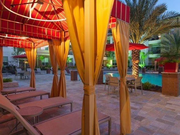 At Domain by Windsor,1755 Crescent Plaza, Houston Resort-Style Pool with Tanning Ledges and Cabanas
