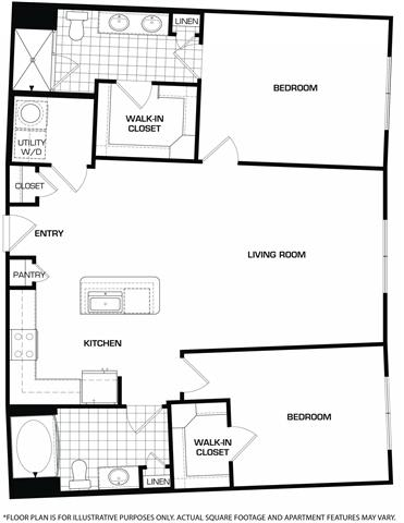 Floor Plan  Floorplan At Domain by Windsor,1755 Crescent Plaza, Houston, opens a dialog