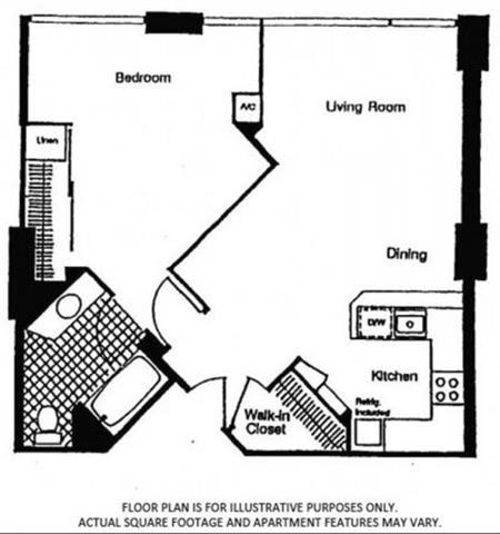 Floor Plan  FloorPlan At Renaissance Tower, Los Angeles, CA, 90015, opens a dialog