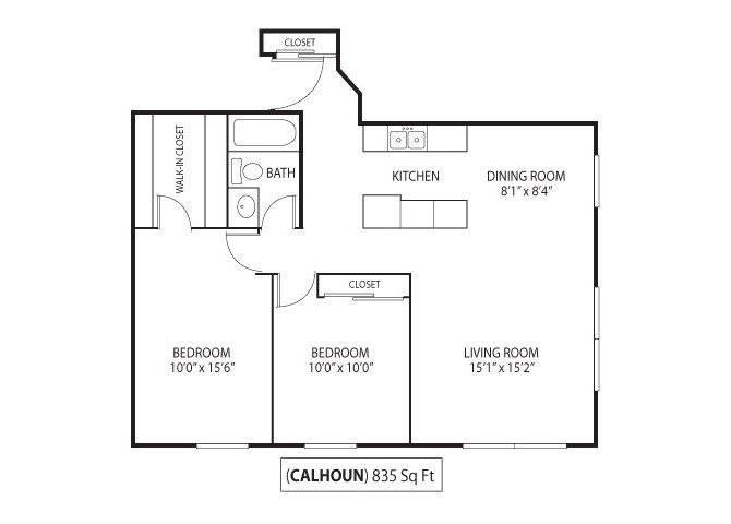 Floor Plan  Calhoun, opens a dialog