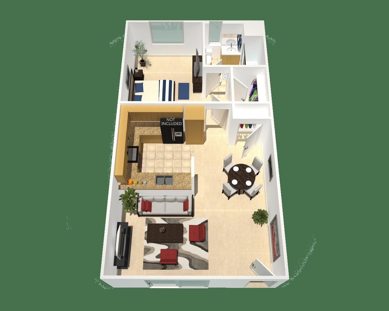 Floor Plan  refurbished apartment