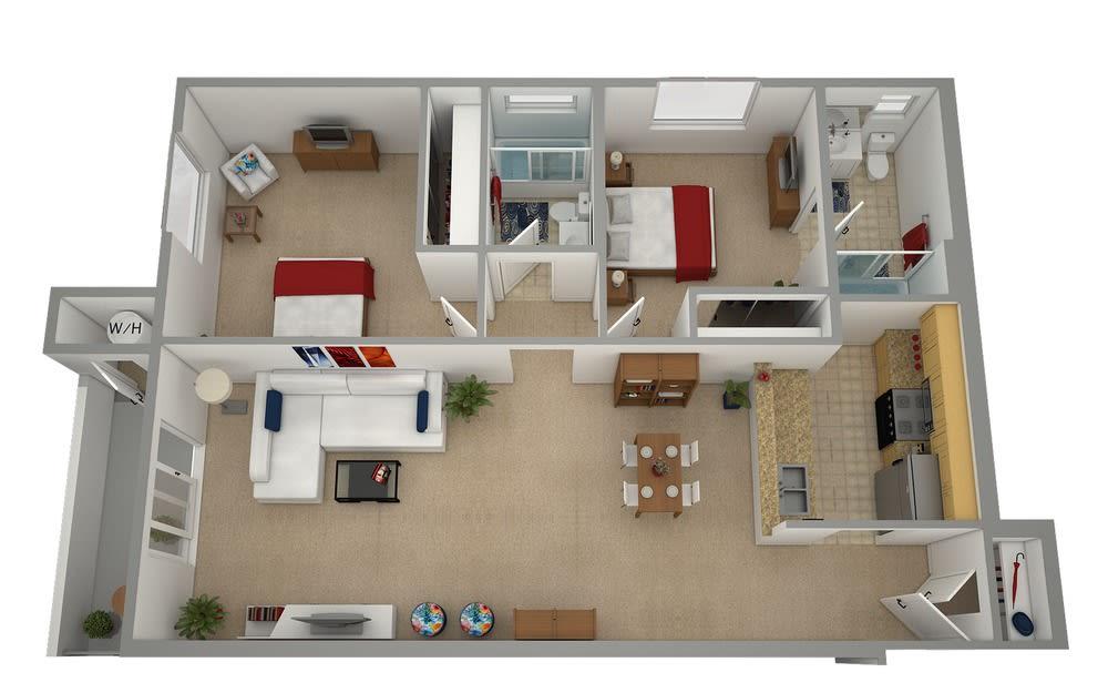 Floor Plan  SYLMAR ASTORIA MOUNTAIN VIEW Rental Apartments 91342