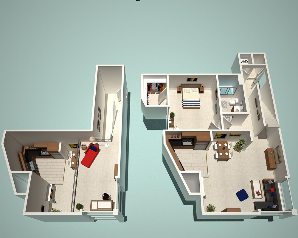 Floor Plan  1 Bed - 1 Bath I1 - Penthouse Floor Plan at The Social, North Hollywood