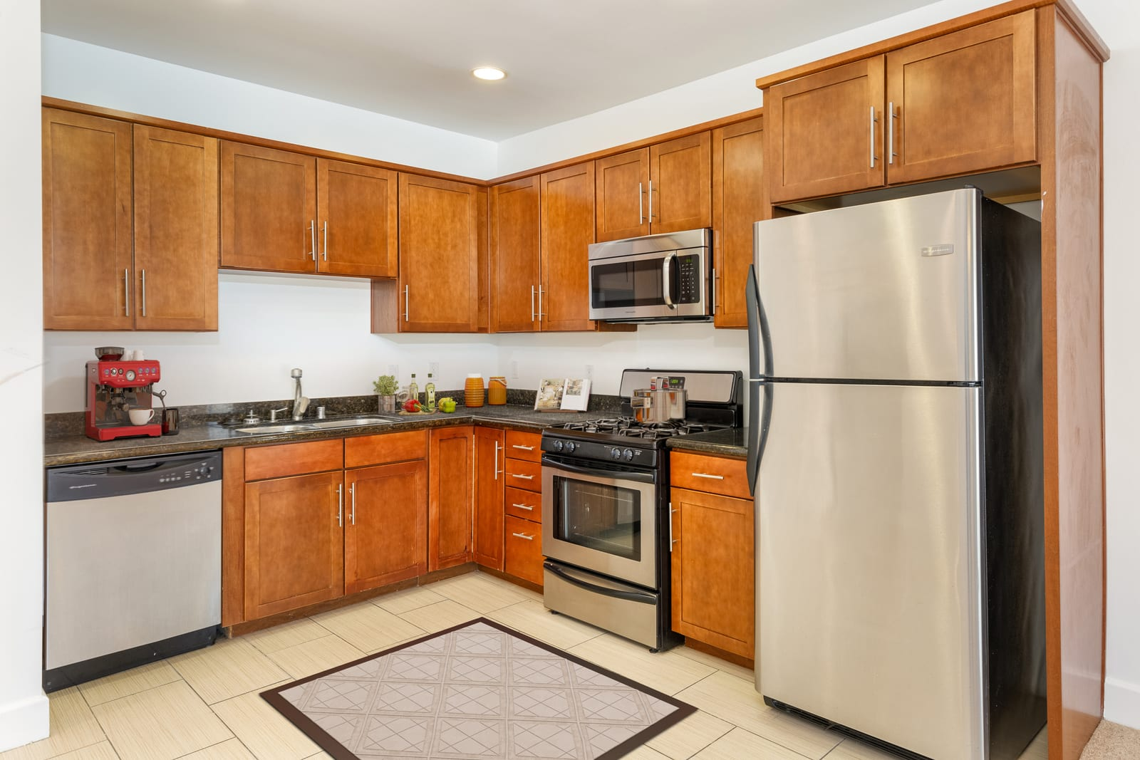 Fitted kitchen at The Social, North Hollywood, California