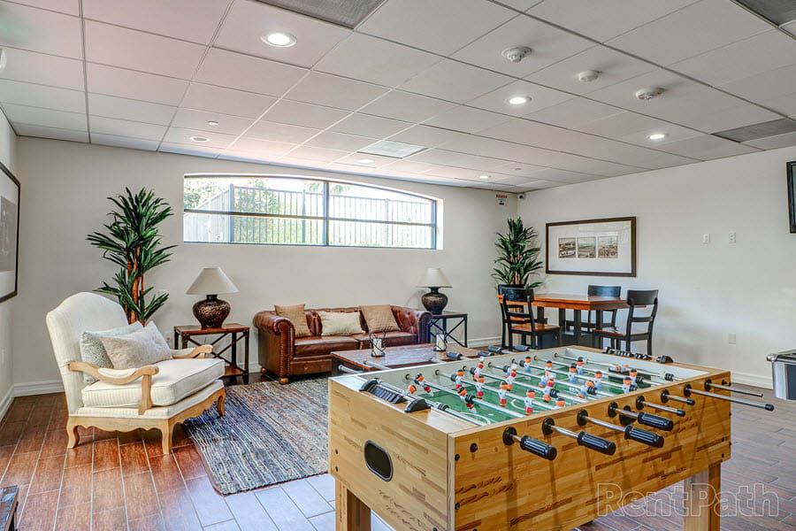 Game Room at Le Blanc Apartment Homes, Canoga Park, CA