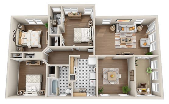 Floor Plan  Bungalow - Parking included  Full Fall 2020, opens a dialog