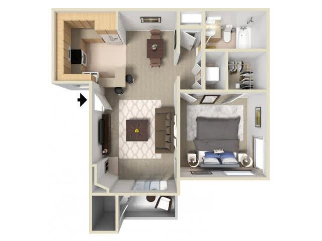 Floor Plan  Pine Ridge floor plan. l Autumn Ridge Apartments in Citrus Heights, CA, opens a dialog