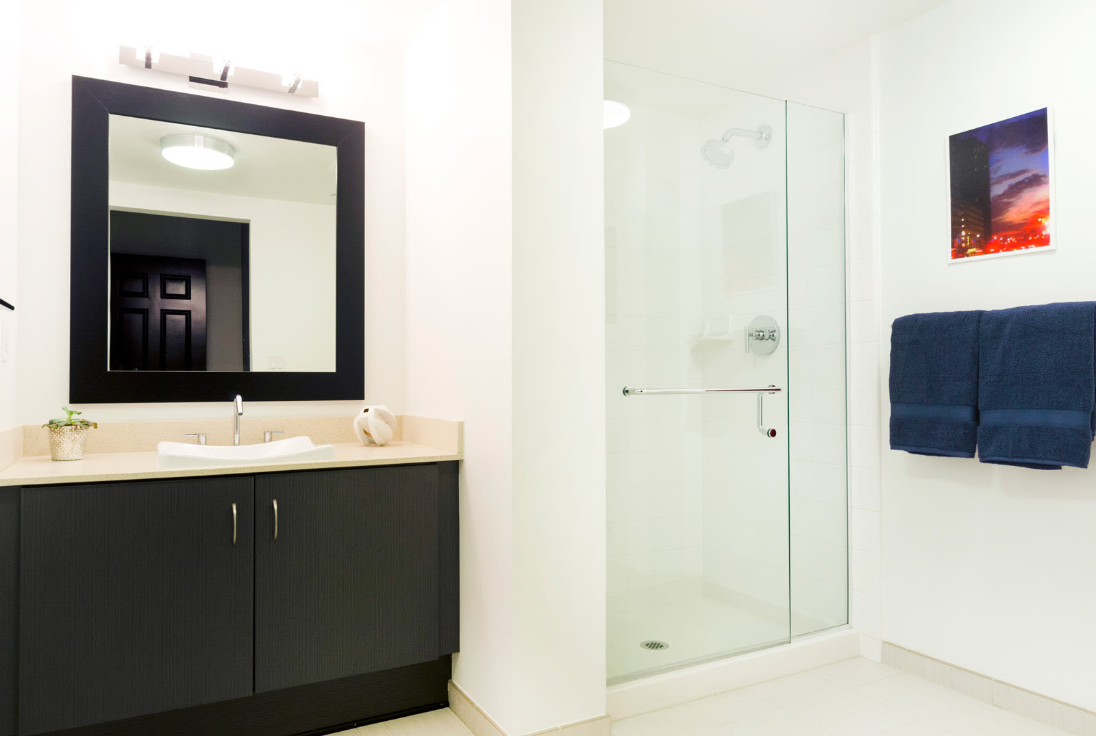 Glass-Enclosed Showers at 1600 Vine Apartment Homes, California, 90028