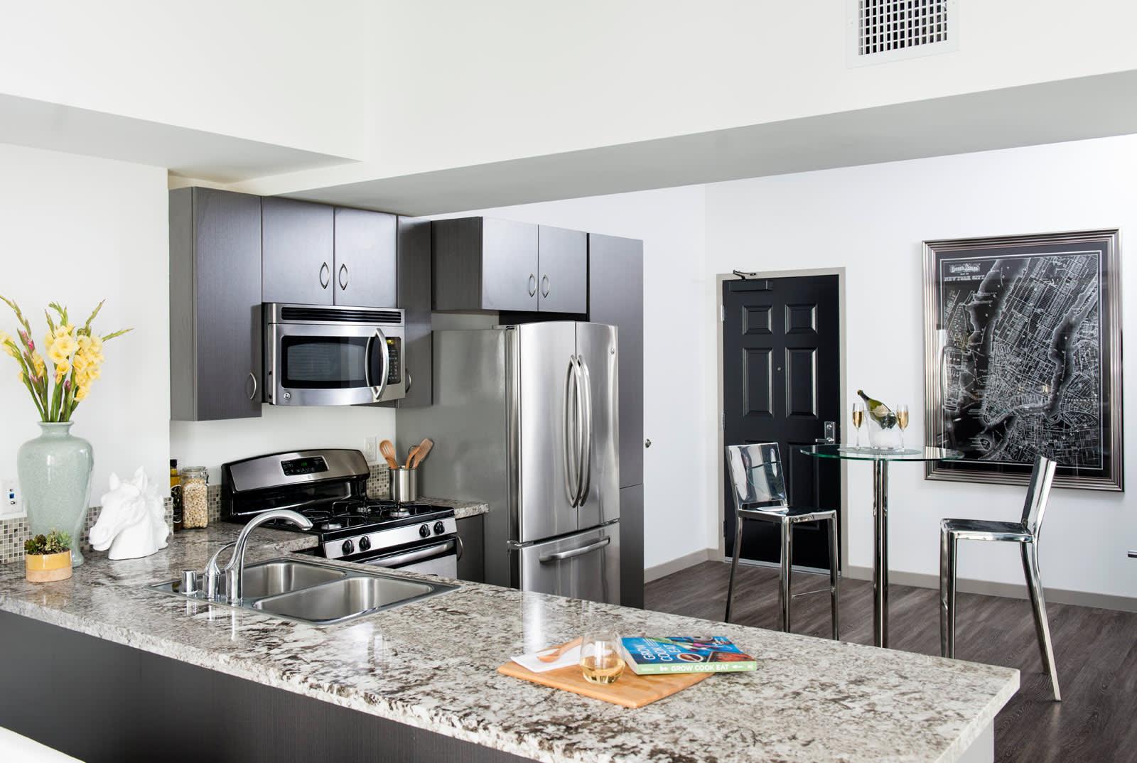 Chef Inspired Kitchen Islands at 1600 Vine Apartment Homes, California, 90028