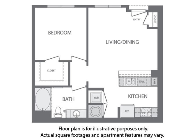 Floor Plan  A - 1 Bedroom 1 Bath Floorplan at Windsor at Cambridge Park, 160 Cambridge Park Drive, MA, opens a dialog