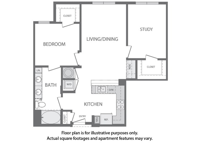 Floor Plan  G - 1 Bedroom 1 Bath Floorplan at Windsor at Cambridge Park, 160 Cambridge Park Drive, Cambridge, MA 2140, opens a dialog