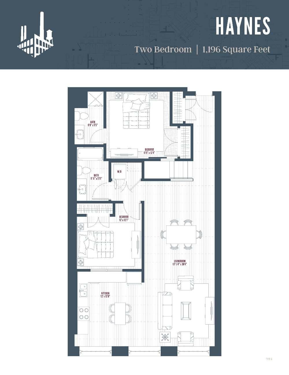 Floor Plan  new apartments in Greensboro, NC, opens a dialog