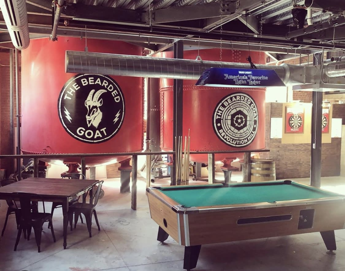 the bearded goat pool table