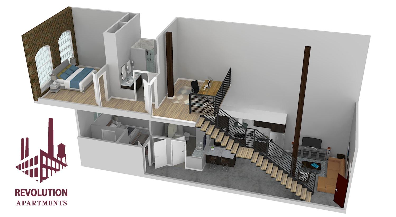 Floor Plan  Townhome B, opens a dialog