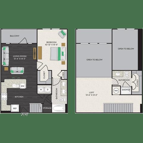 Floor Plan  Floorplan at Midtown Houston by Windsor, Houston, 77002, opens a dialog