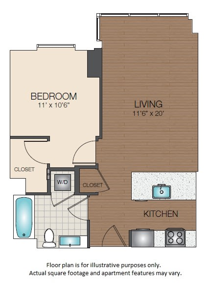 Floor Plan  A1a Floorplan at The Victor, opens a dialog