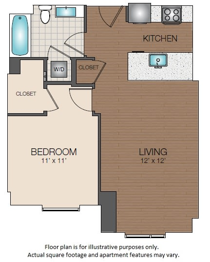 Floor Plan  A1b Floorplan at The Victor, opens a dialog
