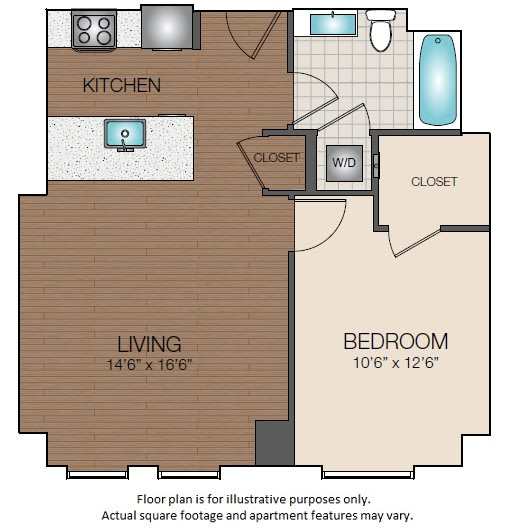Floor Plan  A1c Floorplan at The Victor, opens a dialog