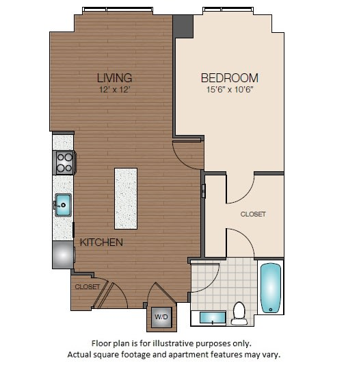 Floor Plan  A2 Floorplan at The Victor, opens a dialog