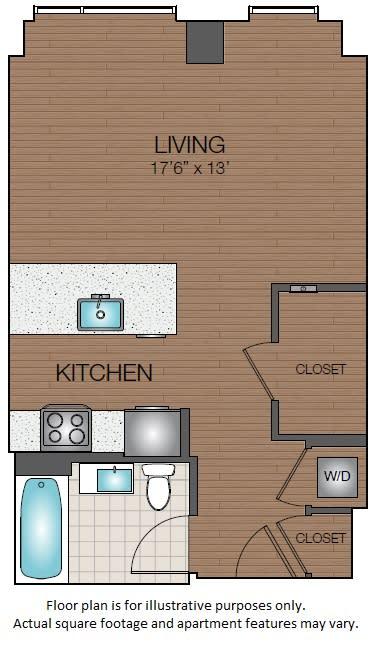 Floor Plan  STudio floorplan West End, Boston Mass The Victor Apartments, opens a dialog