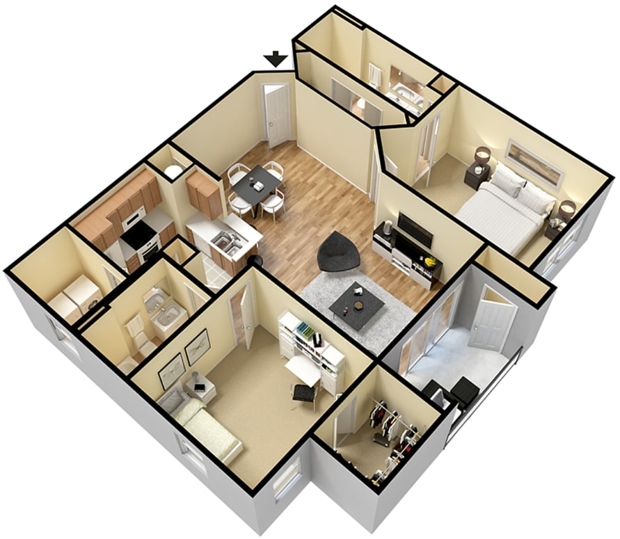Floor Plan  Rapallo Apartments Naples floor plan