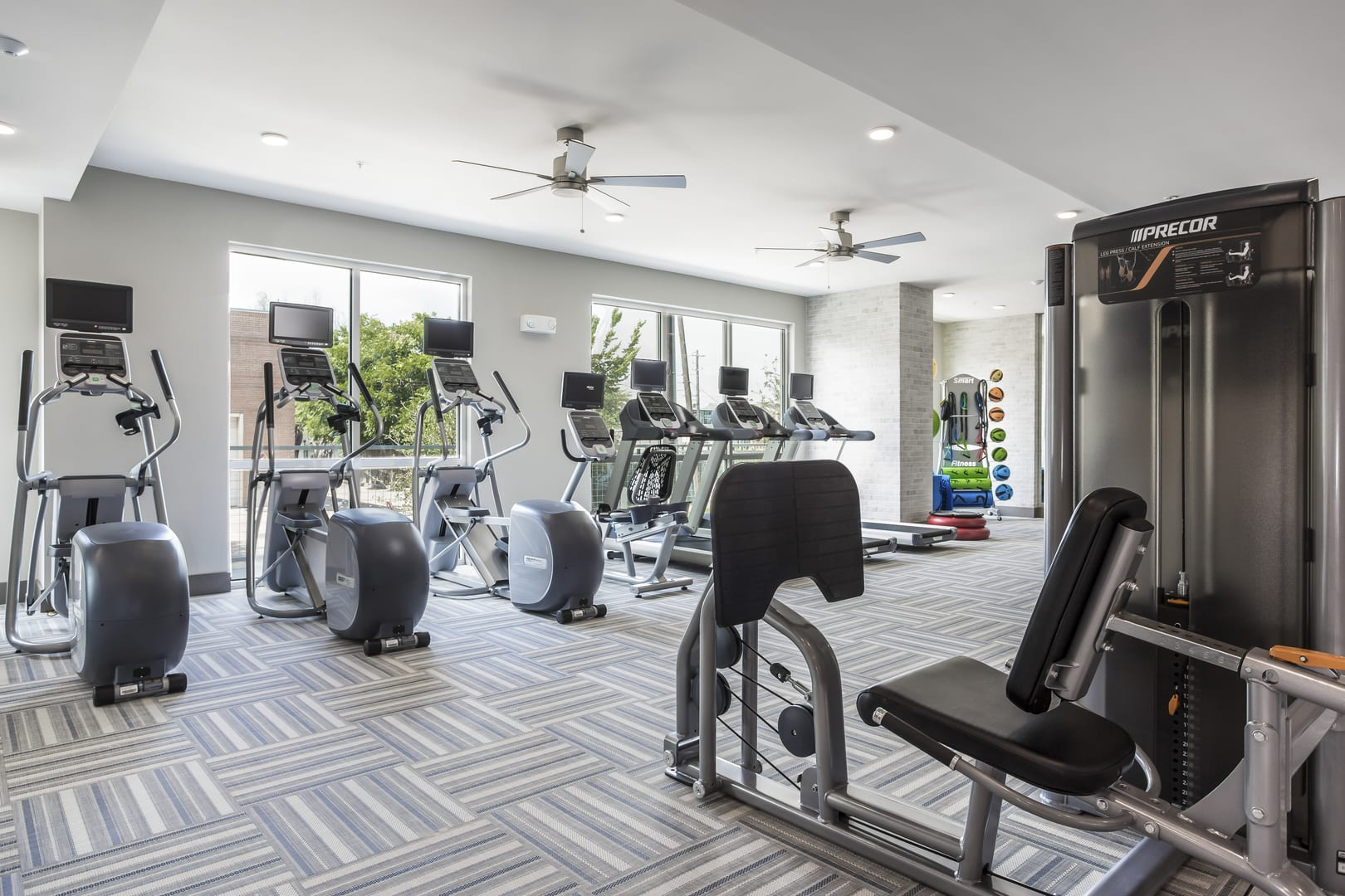 Fully Equipped Fitness Center at Azure Houston Apartments, Houston, TX