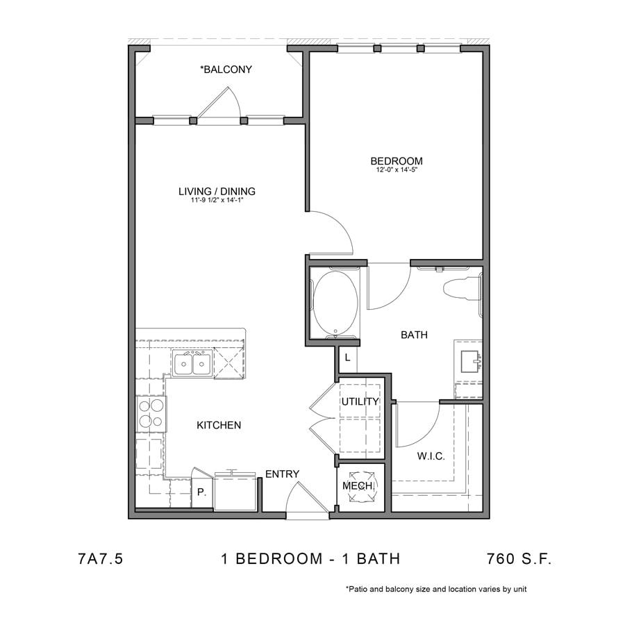 Floor Plan  7A7.5