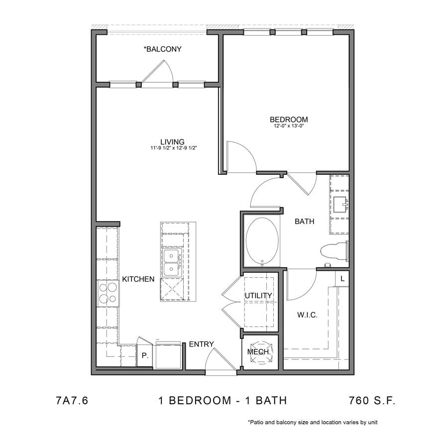 Floor Plan  7A7.6