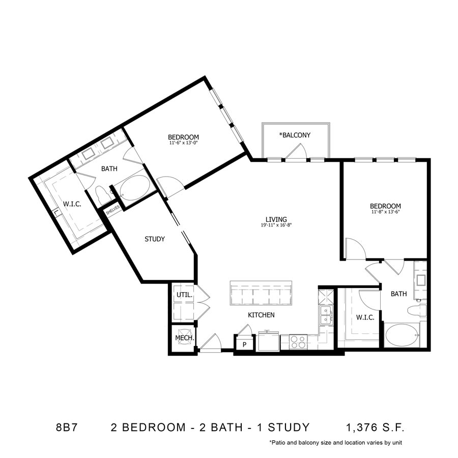 Floor Plan  8B7