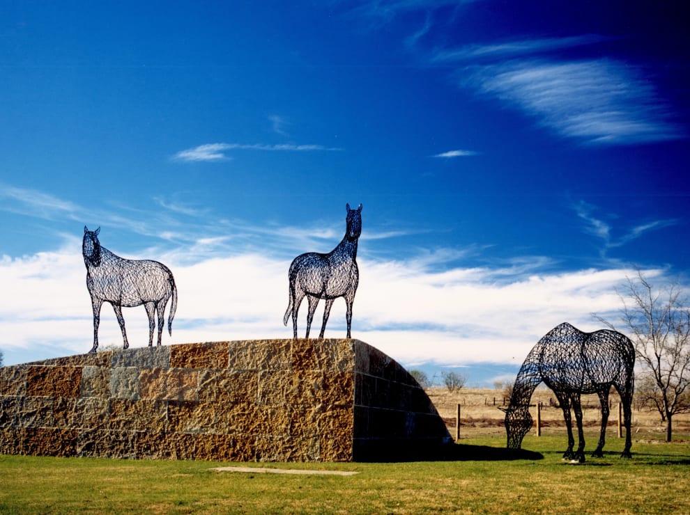 Austin Ranch Steel Horses