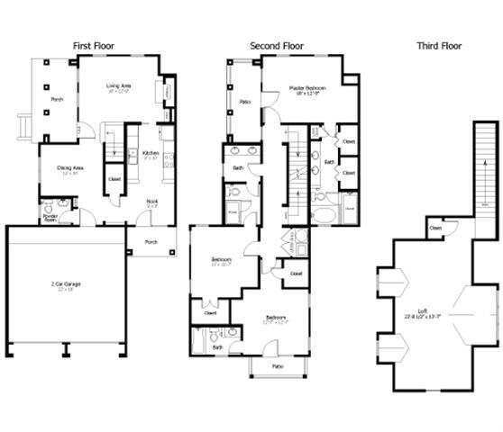 Floor Plan  4D1_TH