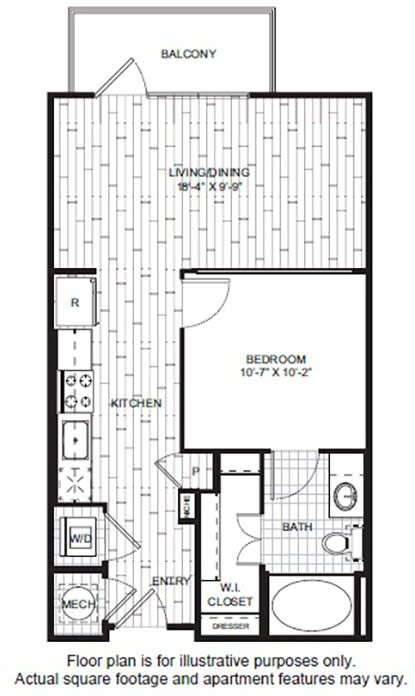 Floor Plan  A1 1 Floor Plan at Windsor CityLine, opens a dialog