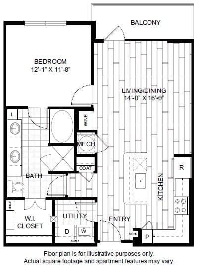 Floor Plan  A10 Floor Plan at Windsor CityLine, opens a dialog