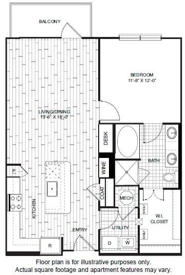 Floor Plan  A11 Floor Plan at Windsor CityLine, opens a dialog