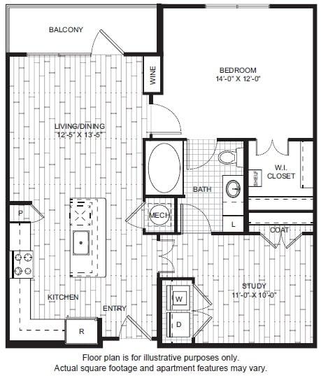Floor Plan  A12 Floor Plan at Windsor CityLine, opens a dialog