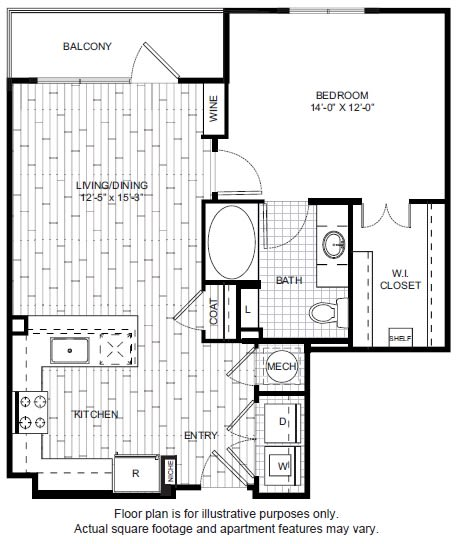 Floor Plan  A13 Floor Plan at Windsor CityLine, opens a dialog