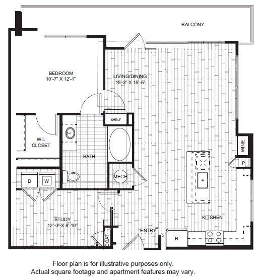 Floor Plan  A17-1 Floor Plan at Windsor CityLine, opens a dialog