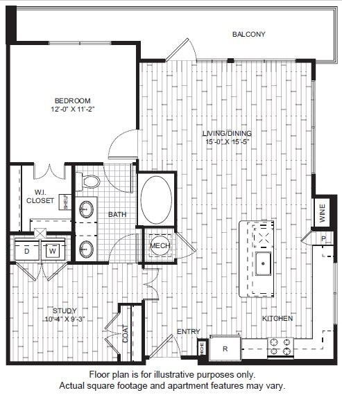 Floor Plan  A17 Floor Plan at Windsor CityLine, opens a dialog