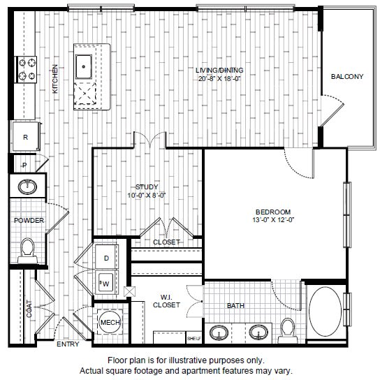 Floor Plan  A19 Floor Plan at Windsor CityLine, opens a dialog