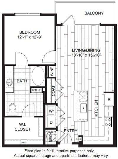 Floor Plan  A2 Floor Plan at Windsor CityLine, opens a dialog