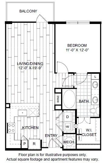 Floor Plan  A4-1 Floor Plan at Windsor CityLine, opens a dialog