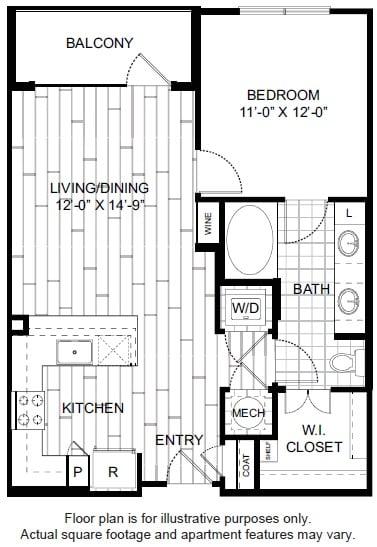 Floor Plan  A4 Floor Plan at Windsor CityLine, opens a dialog