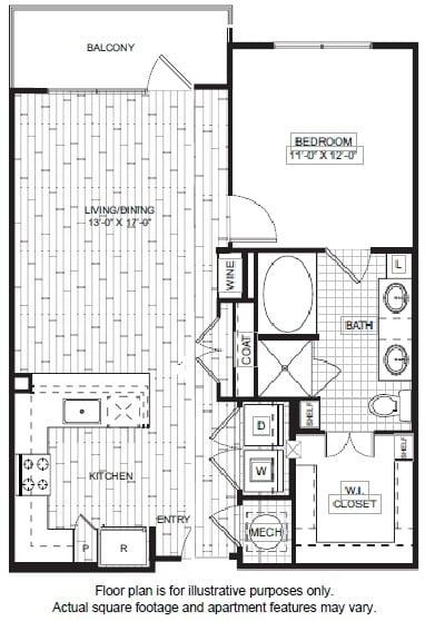 Floor Plan  A7-1 Floor Plan at Windsor CityLine, opens a dialog